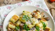 Gnocchi z pieczarkami i serem żółtym