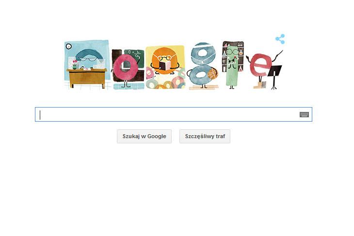 Google Doodle na Dzień Edukacji Narodowej. /materiały prasowe