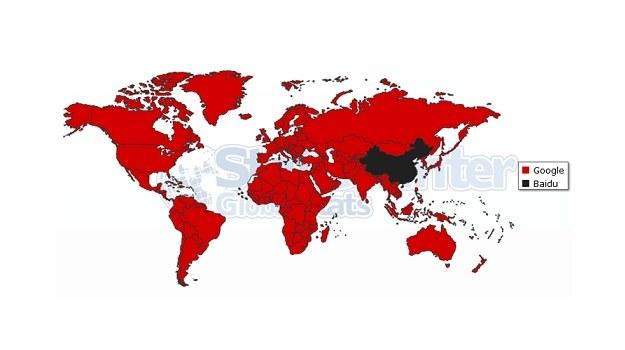 Google i Baidu - rokład globalny. Fot. statcounter.com /materiały prasowe