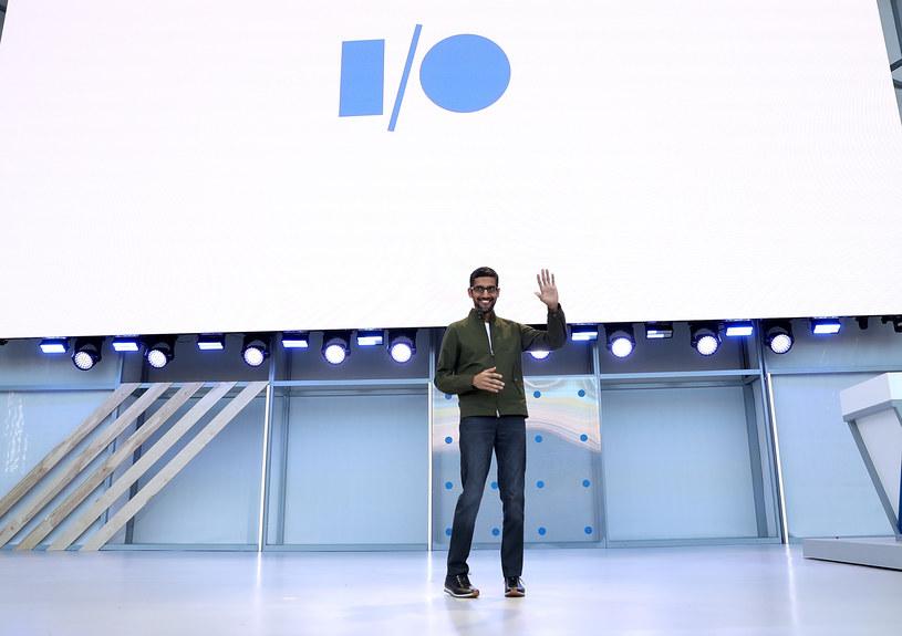 Google I/O. Na zdjęciu CEO firmy Google, Sundar Pichai /AFP