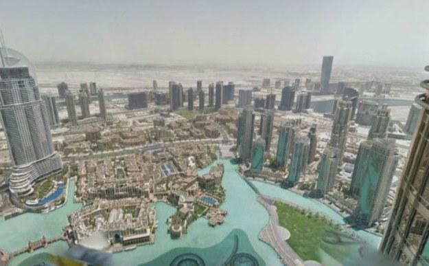 Google Maps i widok z najwyższego budynku świata /materiały prasowe