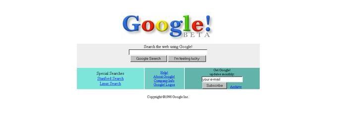 Google w 1998 roku /materiały prasowe