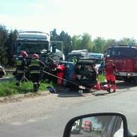 Poważny wypadek w Zachodniopomorskiem. Jedna osoba jest poważnie ranna