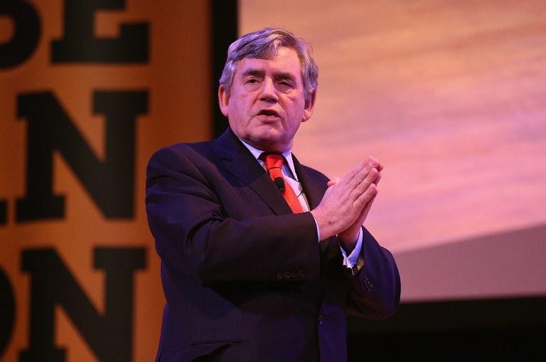 Gordon Brown /AFP