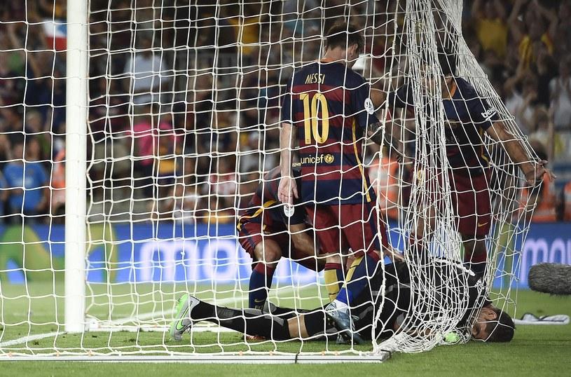 Gorka Iraizoz nie chce oddać piłki /AFP