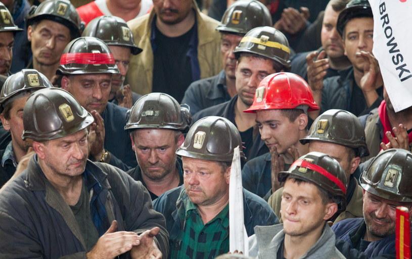 Górnicy, którzy prowadzili podziemny protest /Andrzej Grygiel /PAP