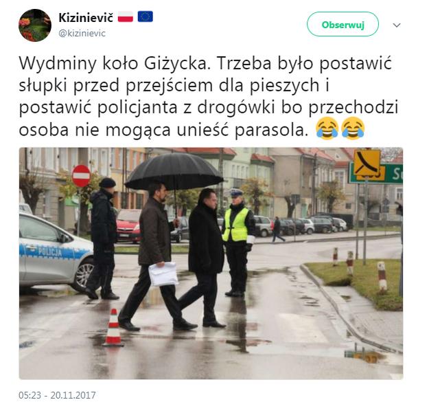 Gospodarska wizyta wiceministra na Mazurach /Twitter