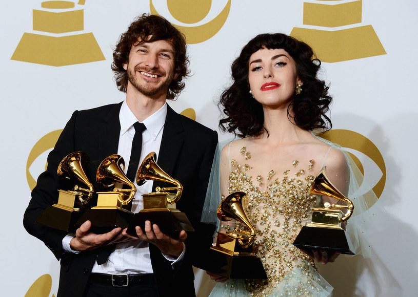 Gotye i Kimbra na rozdaniu nagród Grammy /Jason Merritt /Getty Images