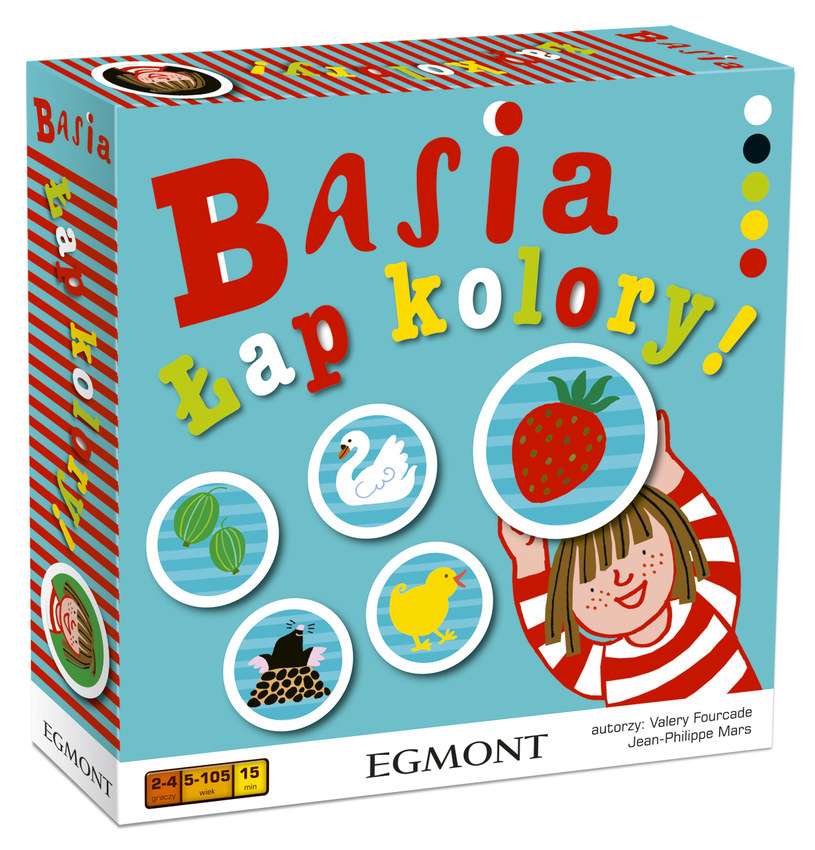 """gra Basia """"Łap kolory"""" w zestawie z książeczkami """"Basia i telefon"""" oraz """"Basia i dentysta"""" /INTERIA.PL"""
