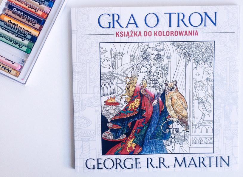 """""""Gra o tron"""" - kolorowanka dla dorosłych, wyd. Akurat /materiały prasowe /materiały prasowe"""