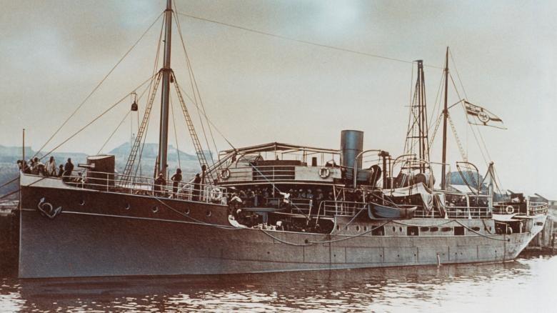 """""""Graf von Götzen"""" - największy okręt na jeziorze Tanganika /INTERIA.PL/materiały prasowe"""