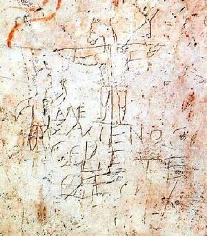 """Graffiti wyśmiewające """"boga Aleksemanosa"""" /Archiwum"""