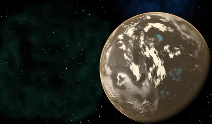 Grafika koncepcyjna węglowej egzoplanety /materiały prasowe