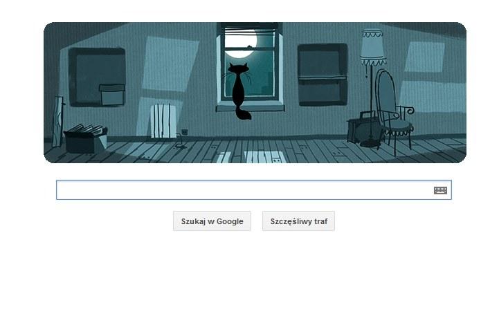 Grafika na stronie Google z okazji 90. rocznicy urodzin Szymborskiej /Google /