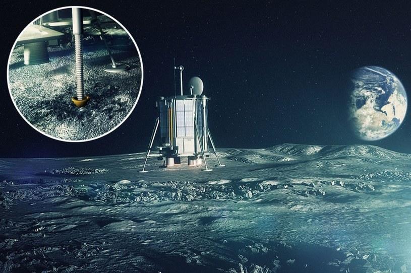 Grafika przedstawiająca koncepcję lądownika Lunar Mission One. /materiały prasowe
