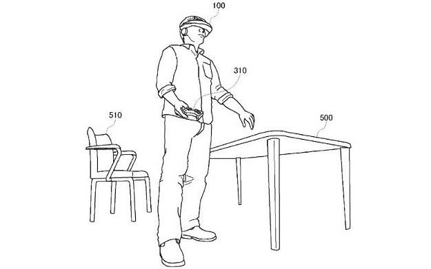 Grafika z patentu gogli VR od Sony /materiały prasowe
