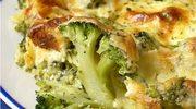 Gratin brokułowy z serem pleśniowym