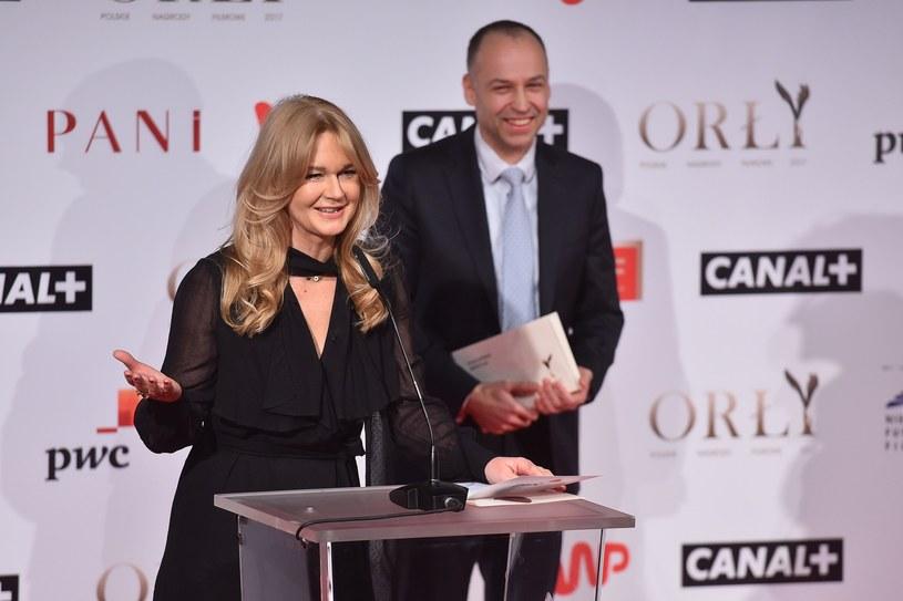 Grażyna Torbicka podczas prezentacji nominowanych do Orłów 2017 /Mateusz Jagielski /East News