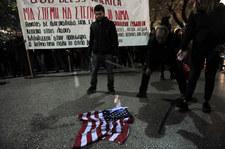 Grecy protestowali przeciwko wizycie Obamy