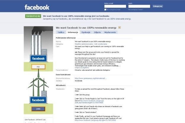 Greenpeace postanowił walczyć z Facebookiem przy pomocy... Facebooka /materiały prasowe