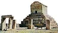 Grób Cyrusa Wielkiego w Pasargade /Encyklopedia Internautica
