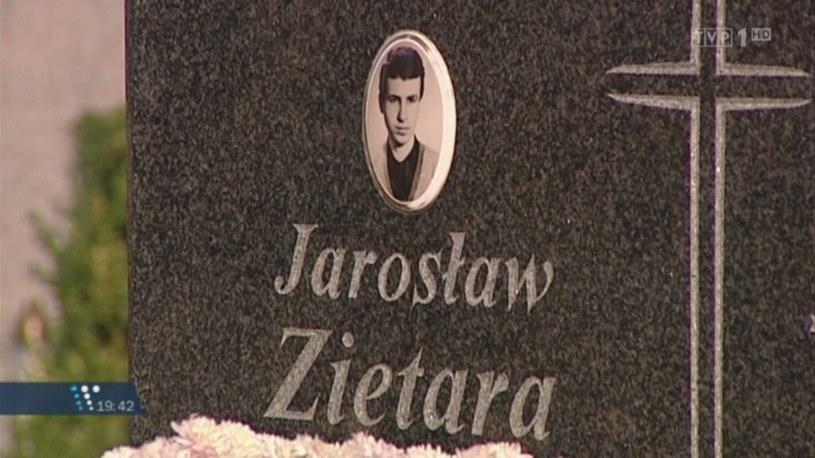 Grób Jarosława Ziętary /TVN24/x-news