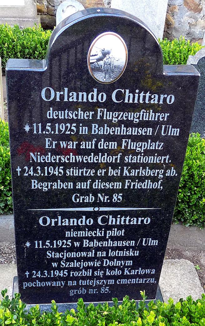 Grób Orlando Chittaro na cmentarzu w Szalejowie Dolnym. Fot. D. Pietrucha /Odkrywca