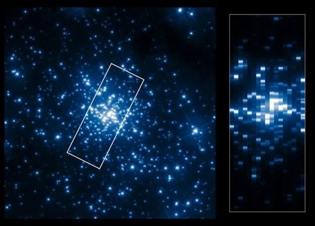 Gromada gwiazd R136 znajduje się w Mgławicy Tarantula /NASA