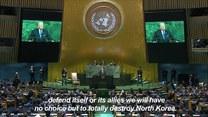 Groźby Trumpa: Jesteśmy gotowi zniszczyć Koreę Północną