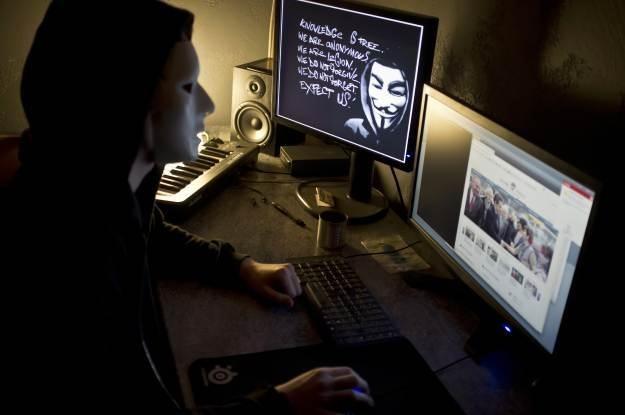 Grupa Anonymous - haktywiści, hakerzy, rewolucjoniści, terroryści, zadymiarze - wiele mają imion /AFP