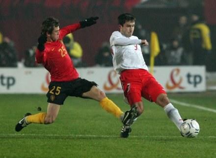 Grzegorz Bronowicki w reprezentacyjnej koszulce, fot: Sebastian Borowski /Agencja Przegląd Sportowy