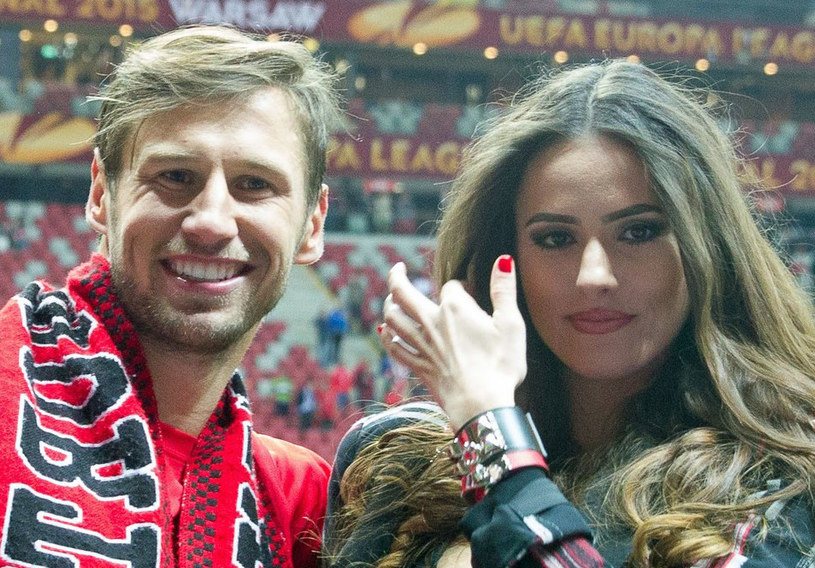 Grzegorz Krychowiak i Celia Jaunat /Andrzej Iwańczuk /Reporter