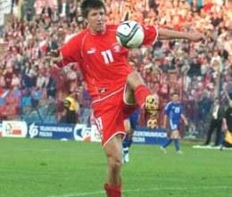 Grzegorz Rasiak jest zachwycony atmosferą w Derby /INTERIA.PL