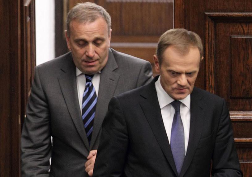 Grzegorz Schetyna i Donald Tusk /Stanisław  Kowalczuk /East News