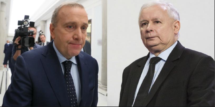 Grzegorz Schetyna i Jarosław Kaczyński /Andrzej Iwanczuk/Andrzej Hulimka /East News