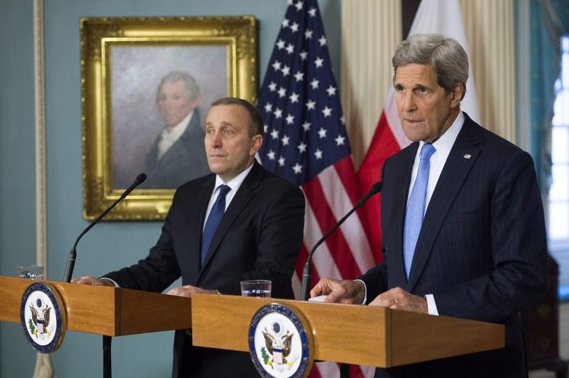 Grzegorz Schetyna i John Kerry /PAP/EPA