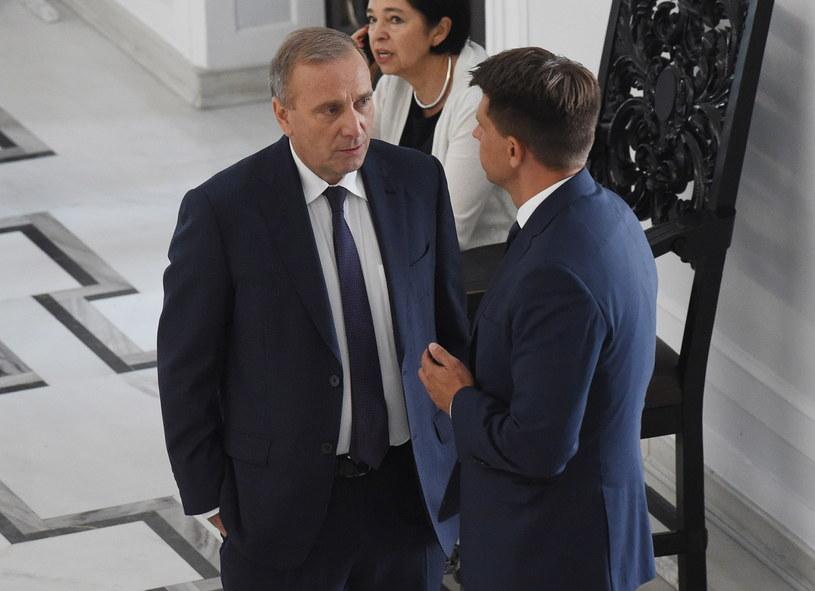 Grzegorz Schetyna i Ryszard Petru /Radek Pietruszka /PAP