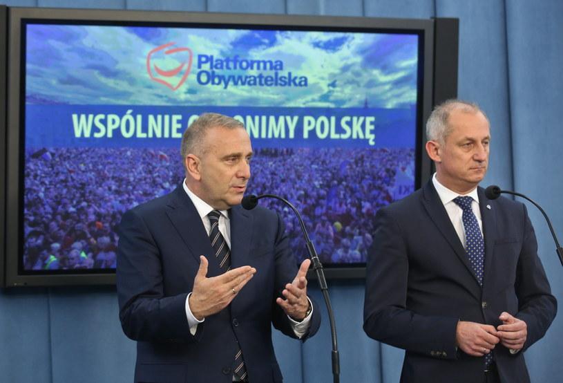 Grzegorz Schetyna i Sławomir Neumann /Rafał Guz /PAP