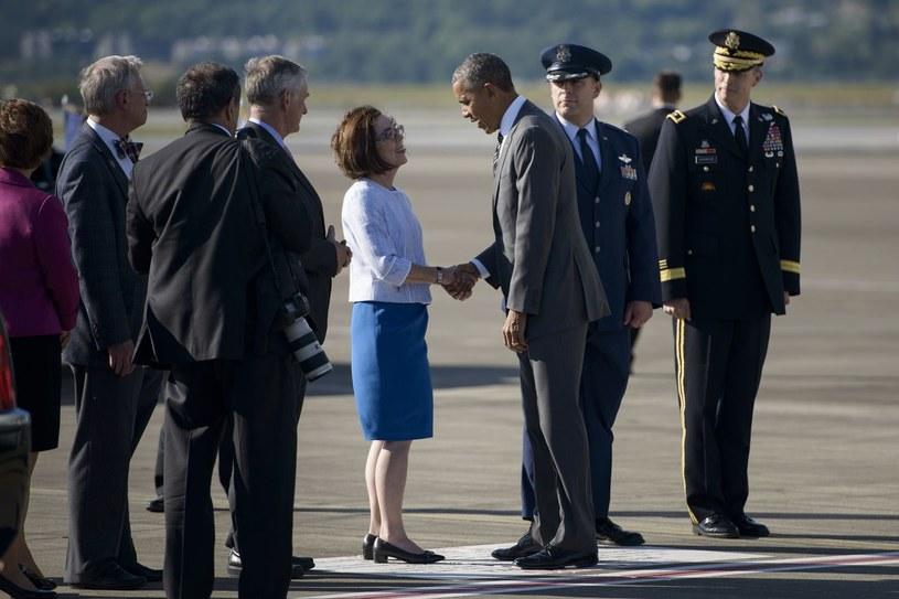 Gubernator Kate Brown i prezydent USA Barack Obama /AFP