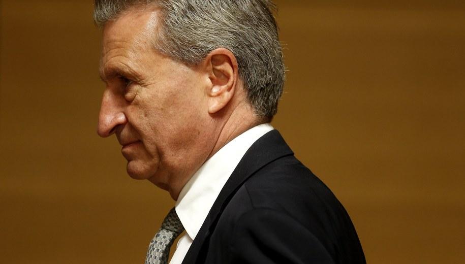 Guenther Oettinger /JULIEN WARNAND /PAP/EPA