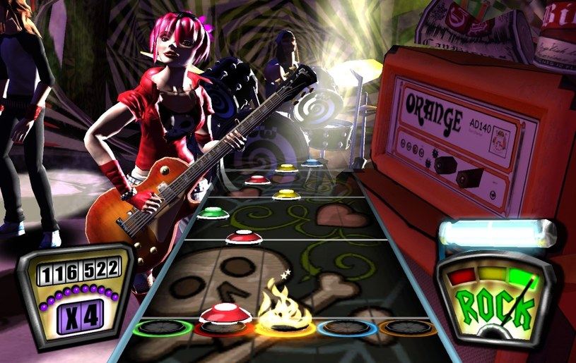 Guitar Hero - popularna gra muzyczna wykorzystująca specjalny, przypominający gitarę, kontroler /materiały prasowe