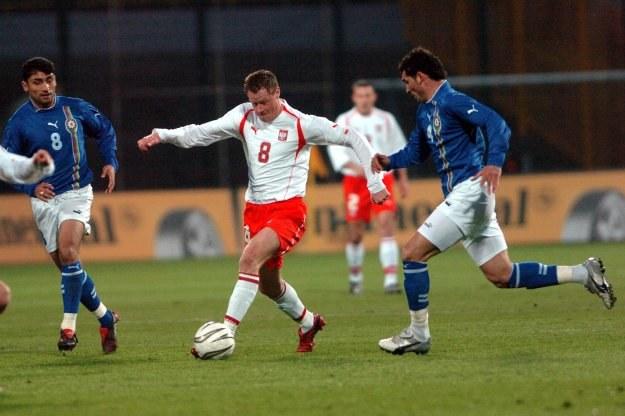 Gurban Gurbanow (L) nie tak dawno rywalizował z reprezentacją Polski /AFP