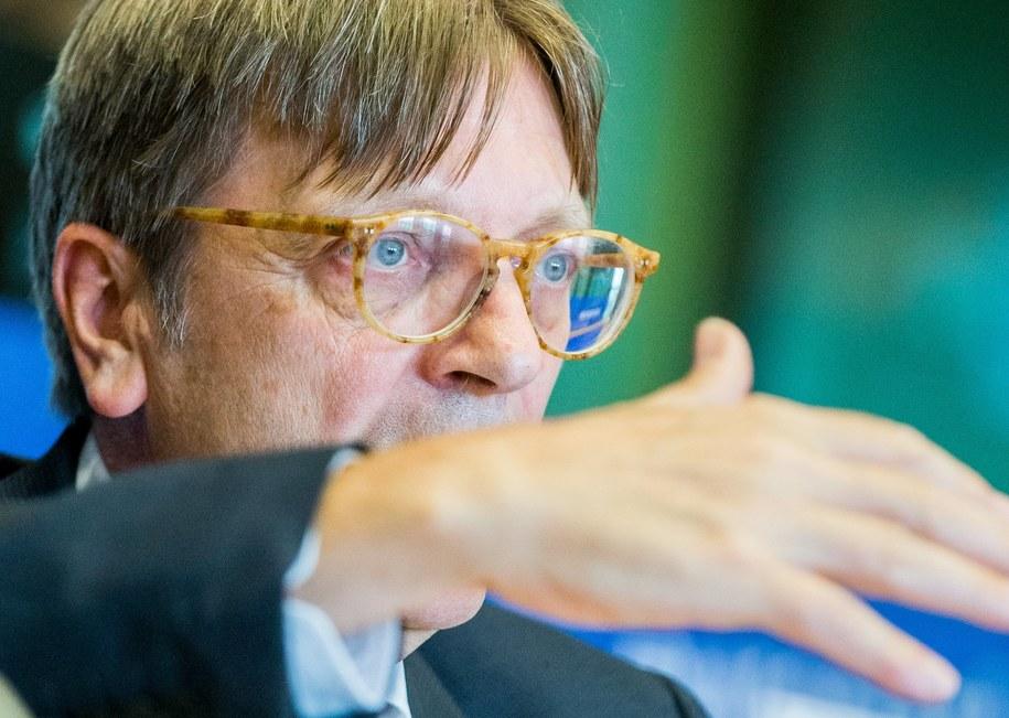 Guy Verhofstadt /STEPHANIE LECOCQ  /PAP/EPA