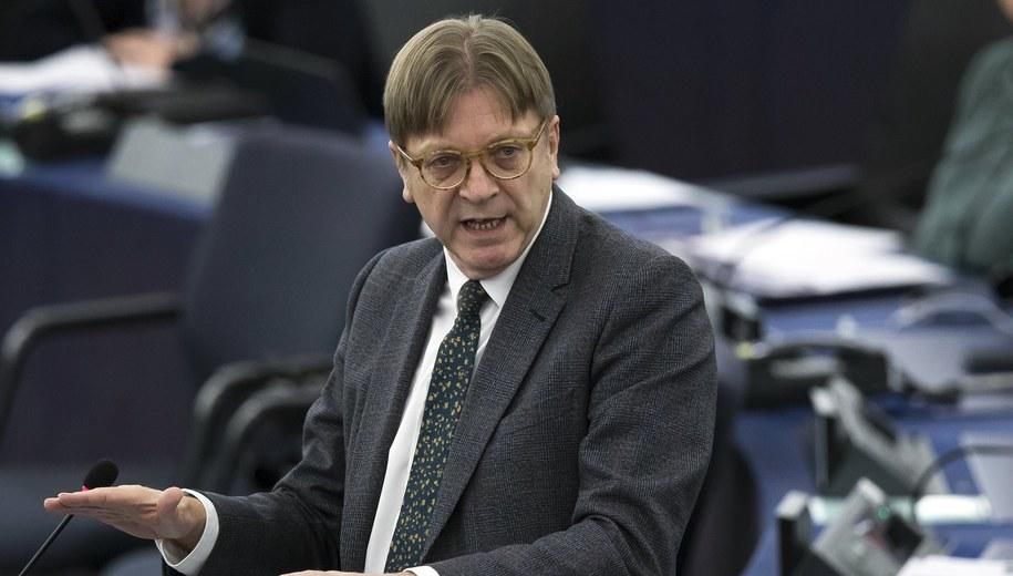 Guy Verhofstadt /IAN LANGSDON /PAP/EPA