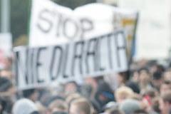 Gwałtowny protest przeciwko ACTA w Kielcach