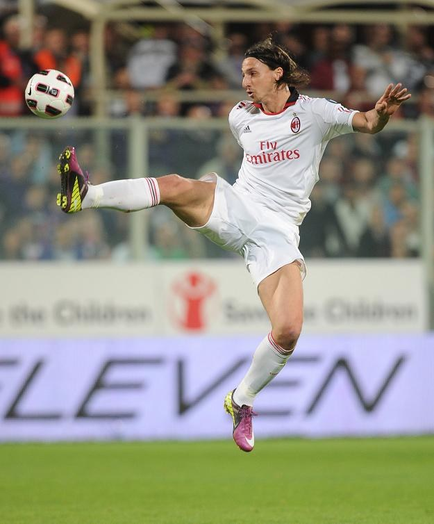 Gwiazda AC Milan Zlatan Ibrahimovic /AFP