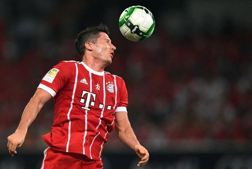 Gwiazda Bayernu Monachium Robert Lewandowski /AFP