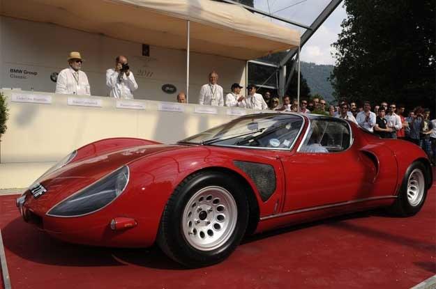 Gwiazda Concorso d'Eleganza Villa d'Este -  alfa romeo 33 Stradale  z 1968 roku /