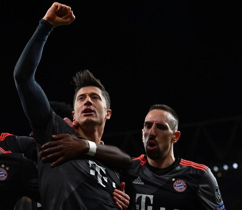 Gwiazdy Bayernu Monachium - Robert Lewandowski i Franck Ribery /AFP