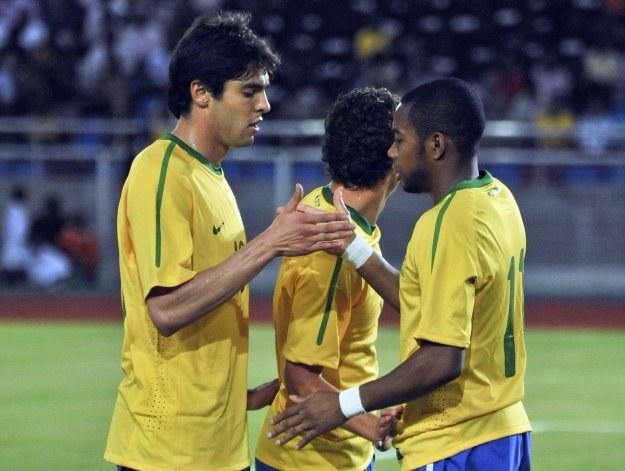 Gwiazdy Brazylii - Kaka i Robinho /AFP
